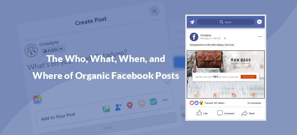 The Who, What, When, and Where of Organic Facebook Posts